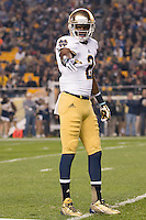 Notre Dame wide receiver Chris Brown. The Pittsburgh Panthers defeated the Notre Dame Fighting Irish 28-21 at Heinz Field, Pittsburgh, Pennsylvania on November 9, 2013.