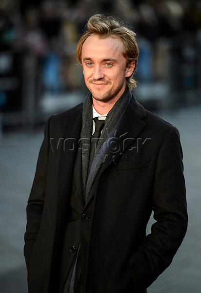 epa05571973 British actor/cast member Tom Felton  arrives for the premiere of 'A United Kingdom' on the opening night of the 60th BFI London Film Festival, in London, Britain, 05 October 2016. The festival runs from 05 to 16 October.  EPA/WILL OLIVER