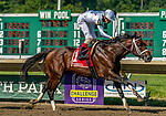 July 18, 2020: Global Campaign #1, ridden by Jorge Vargas, wins the Monmouth Cup on Haskell Invitational Day at Monmouth Park Racecourse in Oceanport, New Jersey. Charles Toler/Eclipse Sportswire/CSM