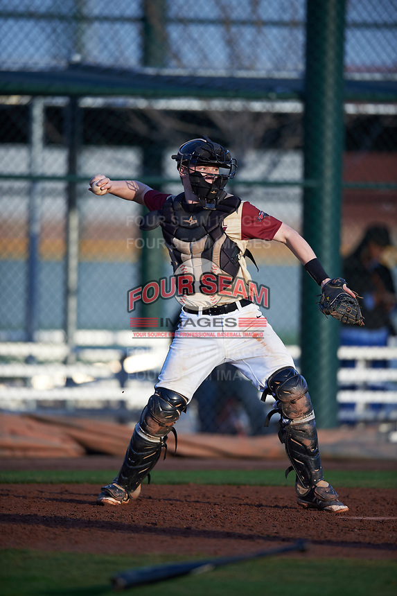 Henry Davis (6) of Fox Lane High School in Bedford, New York during the Under Armour All-American Pre-Season Tournament presented by Baseball Factory on January 14, 2017 at Sloan Park in Mesa, Arizona.  (Mike Janes/MJP/Four Seam Images)