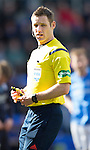 St Johnstone v Dundee....11.04.15   SPFL<br /> Referee Steven McLean<br /> Picture by Graeme Hart.<br /> Copyright Perthshire Picture Agency<br /> Tel: 01738 623350  Mobile: 07990 594431