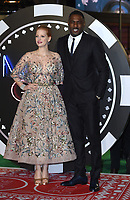 """Jessica Chastain and Idris Elba<br /> arriving for the """"Molly's Game"""" premiere at the Vue West End, Leicester Square, London<br /> <br /> <br /> ©Ash Knotek  D3357  06/12/2017"""