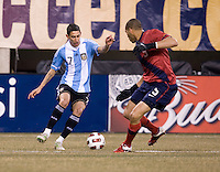 Oguchi Onyewu, Angel Di Maria. The USMNT tied Argentina, 1-1, at the New Meadowlands Stadium in East Rutherford, NJ.
