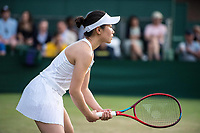 1st July 2021; Wimbledon, SW London. England; Wimbledon Tennis Championships, day 4;  Nao Hibino of Japan