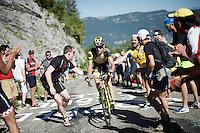 'a little push' up the Lacets du Grand Colombier (Cat1/891m/8.4km/7.6%)<br /> <br /> stage 15: Bourg-en-Bresse to Culoz (160km)<br /> 103rd Tour de France 2016