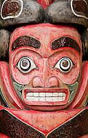 Totem pole detail, Skagway, Alaska