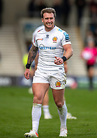 3rd October 2021; AJ Bell stadium, Eccles, Greater Manchester, England: Gallagher Premiership Rugby, Sale v Exeter ;  Stuart Hogg of Exeter Chiefs
