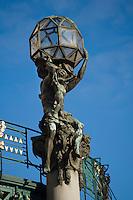 Europe/République Tchèque/Prague: La Maison Municipale-Edifice Art Nouveau qui se dresse  à l'emplacement de l'ancien Palais Royal-détail de la façade