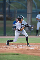 AZL White Sox second baseman Kevin Maldonado (5) shows bunt during an Arizona League game against the AZL Dodgers at Camelback Ranch on July 7, 2018 in Glendale, Arizona. The AZL Dodgers defeated the AZL White Sox by a score of 10-5. (Zachary Lucy/Four Seam Images)