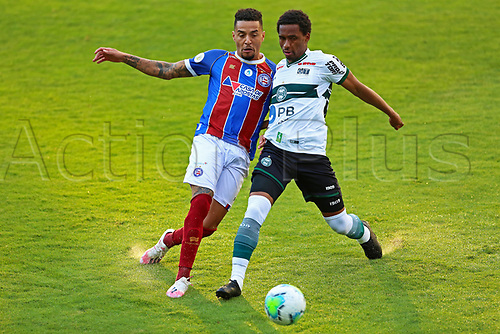 16th November 2020; Couto Pereira Stadium, Curitiba, Brazil; Brazilian Serie A, Coritiba versus Bahia; Matheus Sales of Coritiba and Gregore of Bahia