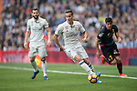 Lucas Vazquez of Real Madrid runs during the match Real Madrid vs RCD Espanyol, a La Liga match at the Santiago Bernabeu Stadium on 18 February 2017 in Madrid, Spain. Photo by Diego Gonzalez Souto / Power Sport Images