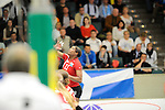 Rüsselsheim, Germany, April 13: Liana Mesa Luaces #11 of the Rote Raben Vilsbiburg in action during play off Game 1 in the best of three series in the semifinal of the DVL (Deutsche Volleyball-Bundesliga Damen) season 2013/2014 between the VC Wiesbaden and the Rote Raben Vilsbiburg on April 13, 2014 at Grosssporthalle in Rüsselsheim, Germany. Final score 0:3 (Photo by Dirk Markgraf / www.265-images.com) *** Local caption ***