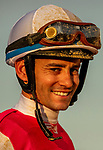 MAY 15, 2021: Flavien Prat after winning the Preakness Stakes at Pimlico Racecourse in Baltimore, Maryland on May 15, 2021. EversEclipse Sportswire/CSM