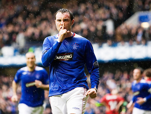 17TH MAR 2007, RANGERS V ABERDEEN AT IBROX STADIUM, GLASGOW, KRIS BOYD CELEBRATES SCORING HIS SECOND GOAL, ROB CASEY PHOTOGRAPHY.