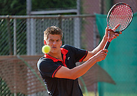 August 12, 2014, Netherlands, Raalte, TV Ramele, Tennis, National Championships, NRTK,  Sander Arends (NED)<br /> Photo: Tennisimages/Henk Koster