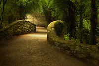 Walkway over bridge. Bunratty Castle, ireland