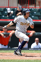 Trenton Thunder First Baseman Marcos Vechionacci (53) during a game vs. the Erie Seawolves at Jerry Uht Park in Erie, Pennsylvania;  June 24, 2010.   Trenton defeated Erie 11-2.  Photo By Mike Janes/Four Seam Images