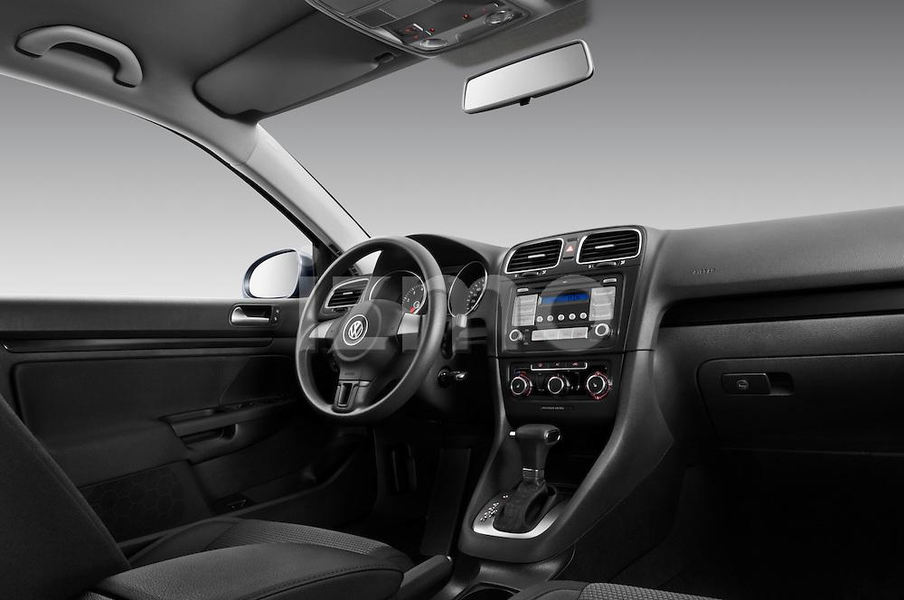Low angle dashboard view of a 2010 Volkswagen Jetta SportWagen S