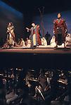 Idomeneo being rehearsed Glyndebourne Festival Opera  Lewes Sussex 1985 1980s UK