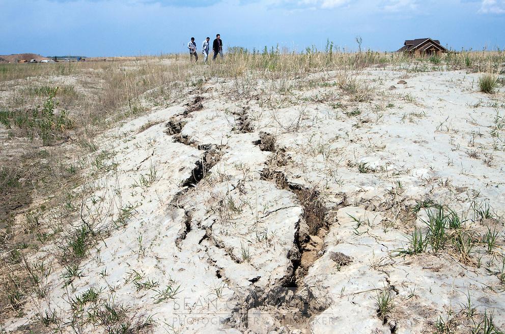 Drought at the Zhalong Wetlands, Heilongjiang Province. China. 2011