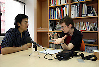Ruth Kirchner interviews Han Dongfang in Hongkong, China on 17 April, 2008.