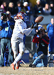 Bishop Gorman's Tyjon Lindsey makes a reception against Reed during an NIAA Division I playoff game at Reed High School in Sparks, Nev., on Saturday, Nov. 28, 2015. Bishop Gorman won 41-13. (Cathleen Allison/Las Vegas Review-Journal)