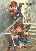 Alfredo, CHILDREN, paintings, BRTOVE0014,#K# Kinder, niños, nostalgisch, nostálgico, illustrations, pinturas