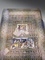 Roman mosaics - Mousai Mosaic. Euphrates Villa, Ancient Zeugama, 2nd - 3rd century AD . Zeugma Mosaic Museum, Gaziantep, Turkey.