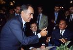 FRANCO CARRARO CON GIULIO ANDREOTTI  E VALENTINO GARAVANI<br /> PREMIO CONDOTTI ROMA 1992
