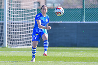 Rkia Mazrouai (2) of AA Gent pictured during a female soccer game between  AA Gent Ladies and RSC Anderlecht on the 17th matchday of the 2020 - 2021 season of Belgian Scooore Womens Super League , saturday 20 th of March 2021 in Oostakker , Belgium . PHOTO SPORTPIX.BE | SPP | STIJN AUDOOREN