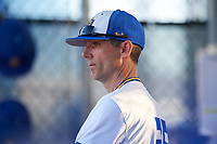 South Dakota State Jackrabbits head coach Rob Bishop during a game against the Northeastern Huskies on February 23, 2019 at North Charlotte Regional Park in Port Charlotte, Florida.  Northeastern defeated South Dakota State 12-9.  (Mike Janes/Four Seam Images)