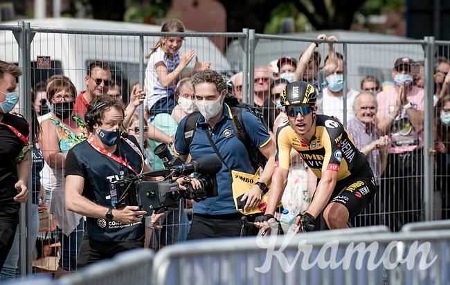 Wout van Aert (BEL/Jumbo-Visma) is the new Belgian Champion<br /> <br /> Belgian National Championships 2021 - Road Race<br /> <br /> One day race from Waregem to Waregem (221km)<br /> <br /> ©kramon