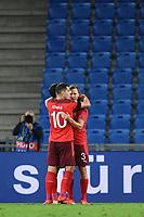 Torjubel nach dem 1-1: Granit Xhaka (Schweiz) und Torschuetze Silvan Widmer (Schweiz).<br /> Sport: Fussball: UEFA Nations League: 2. Spieltag: Schweiz - Deutschland, 06.09.2020<br /> <br /> Foto: Markus Gilliar/GES/POOL/Marc Schüler/Sportpics.de