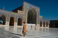 The Friday Mosque of Herat was built by the Timurids and extended by several rulers swapping hands down the centuries between the Timurids, Safavids, Mughals and the Uzbeks.<br /> Little of the medieval Mosque remains, after the Anglo-Afghan wars much of the mosque was left destroyed. A program launched in 1945 rebuilt walls and rooms.