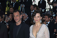 Juliette Binoche Matteo Garrone attends 'The Last Face' Premiere during the 69th annual Cannes Film Festival at the Palais des Festivals on May 20, 2016 in Cannes, France.