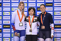 SPEEDSKATING: SALT LAKE CITY: Utah Olympic Oval, 10-03-2019, ISU World Cup Finals, Podium 500m Ladies, Olga Fatkulina (RUS), Nao Kodaira (JPN), Vanessa Herzog (AUT), ©Martin de Jong