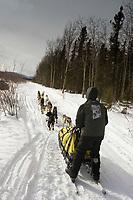 Mitch Seavey on Trail Leaving Kaltag AK WE 2005 Iditarod Winter