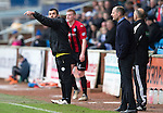 Kilmarnock v St Johnstone...05.04.14    SPFL<br /> Callum Davidson gives instructions<br /> Picture by Graeme Hart.<br /> Copyright Perthshire Picture Agency<br /> Tel: 01738 623350  Mobile: 07990 594431