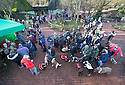 """18/12/16<br /> <br /> Queue to see Santa Paws (far left).<br /> <br /> Close to 800 dogs, many of them dressed up in festive garb, have visited their very own Santa Paws in a special dog-only Christmas grotto held in Sherwood Forest in Nottinghamshire this weekend.<br /> The two-day event, which was organised by park rangers working for Nottinghamshire County Council, has been running for three years.<br /> Ranger Graeme Turner, who originally came up with the idea for a doggy-themed Santa's Grotto said this year has been the best so far.<br /> """"The queue is huge, it snakes back all the way round the visitor's centre,"""" he said. """"All the dogs are being very well behaved, I guess they don't want to get onto Santa Paw's naughty list this close to Christmas!""""<br /> All canine visitors to the grotto got a special doggy bag full of treats and money raised from the event will go to Jerry Green Dog Rescue charity.<br /> <br /> All Rights Reserved F Stop Press Ltd. (0)1773 550665   www.fstoppress.com"""
