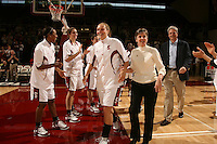 25 February 2006: Candice Wiggins, Morgan Clyburn, and Krista Rappahahn during Stanford's 78-47 win over the Washington State Cougars at Maples Pavilion in Stanford, CA.