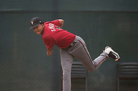 Arizona Diamondbacks relief pitcher Franklyn Soriano (19) warms up in the bullpen during an Extended Spring Training game against the Colorado Rockies at Salt River Fields at Talking Stick on April 16, 2018 in Scottsdale, Arizona. (Zachary Lucy/Four Seam Images)