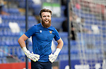 Ross County v St Johnstone…31.07.21  Global Energy Stadium<br />Zander Clark pictured during the warm-up<br />Picture by Graeme Hart.<br />Copyright Perthshire Picture Agency<br />Tel: 01738 623350  Mobile: 07990 594431