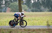 Ethan Vernon (GBR)<br /> <br /> World Championships U23 Men - ITT <br /> Time Trial from Knokke-Heist to Bruges (30.3km)<br /> <br /> UCI Road World Championships - Flanders Belgium 2021<br /> <br /> ©kramon