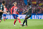 Atletico de Madrid's Antoine Griezmann and Chelsea's Victor Moses during UEFA Champions League match between Atletico de Madrid and Chelsea at Wanda Metropolitano in Madrid, Spain September 27, 2017. (ALTERPHOTOS/Borja B.Hojas)