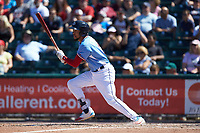 J.P. Crawford (3) of the Lehigh Valley Iron Pigs follows through on his swing against the Durham Bulls at Coca-Cola Park on July 30, 2017 in Allentown, Pennsylvania.  The Bulls defeated the IronPigs 8-2.  (Brian Westerholt/Four Seam Images)