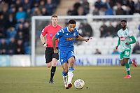 Cohen Bramall of Colchester United threads the ball forward during Colchester United vs Plymouth Argyle, Sky Bet EFL League 2 Football at the JobServe Community Stadium on 8th February 2020