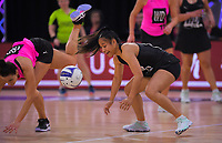 NZ Under-21s Ainsleyana Puleiata in action during the Cadbury Netball Series match between NZ A and NZ Under-21 at the Fly Palmy Arena in Palmerston North, New Zealand on Saturday, 24 October 2020. Photo: Dave Lintott / lintottphoto.co.nz