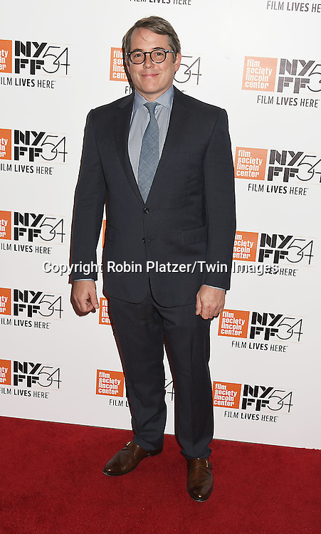 """Matthew Broderick attends the """"Manchester by the Sea"""" Screening at the New York Film Festival on October 1, 2016 at Alice Tylly Hall in Lincoln Center in New York, New York, USA.<br /> <br /> photo by Robin Platzer/Twin Images<br />  <br /> phone number 212-935-0770"""