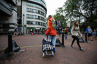 """London, 25/05/2016. This evening, members of the public supported by Zekra, the organiser of """"Happy Ravers"""", walked around Charing Cross/Strand area in Central London for """"distributing and collecting essential items to those who may need them on our streets"""". Cups of tea, coffee and hot soups, sandwiches, handmade cup cakes, water, biscuits and a lot of company, smiles and hugs were donated this evening to some of the homeless people who are living in the London's streets and sleeping rough. <br /> <br /> For more information and to help please click here: https://www.facebook.com/groups/havers/"""
