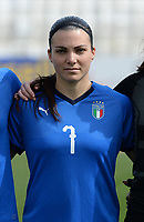 20180302 - LARNACA , CYPRUS : Italian Alia Guagni pictured during a women's soccer game between Italy and Wales , on friday 2 March 2018 at GSZ Stadium in Larnaca , Cyprus . This is the second game in group A for Italy and Wales during the Cyprus Womens Cup , a prestigious women soccer tournament as a preparation on the World Cup 2019 qualification duels. PHOTO SPORTPIX.BE | DAVID CATRY